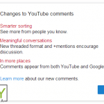 YouTube comments and Google+