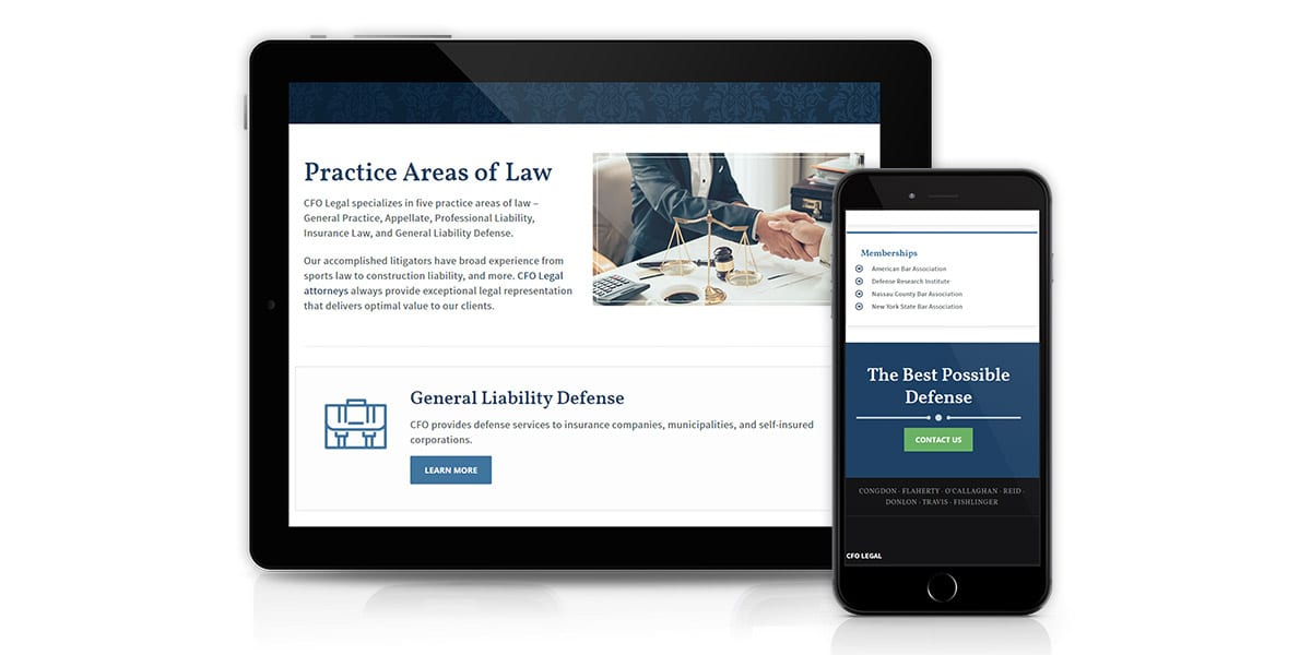 CFO Legal website mockup