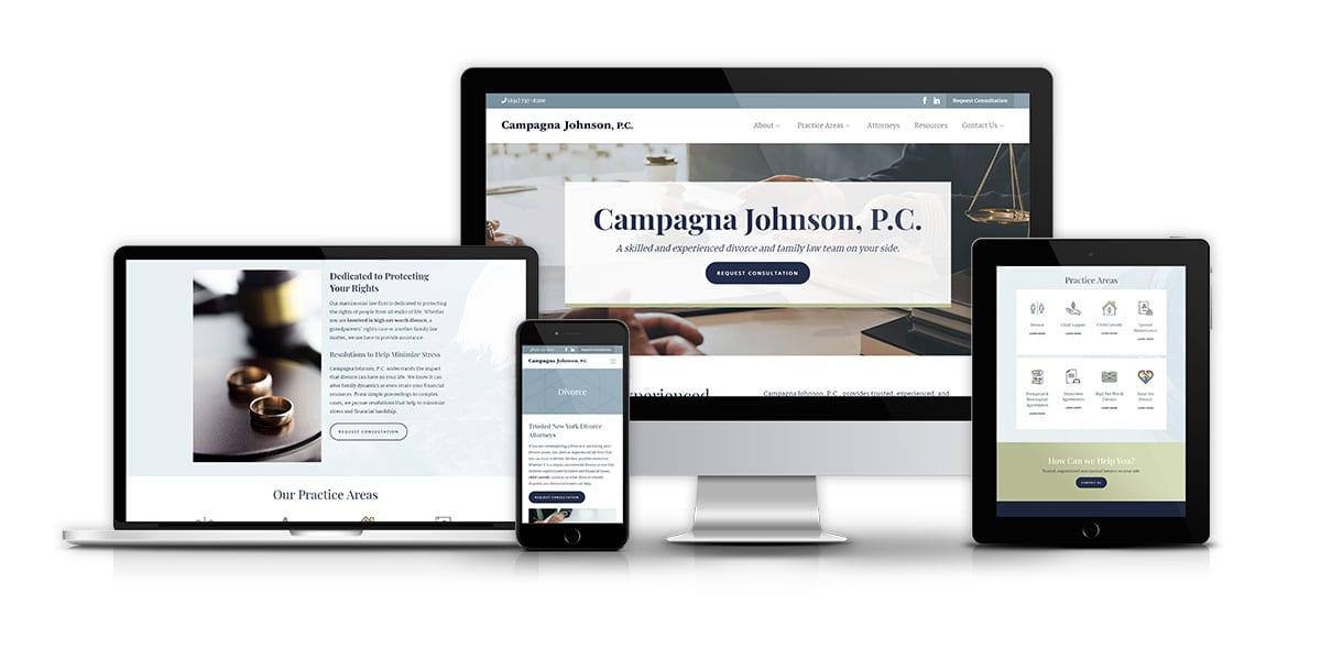 Campagna Johnson, P.C. website mockup
