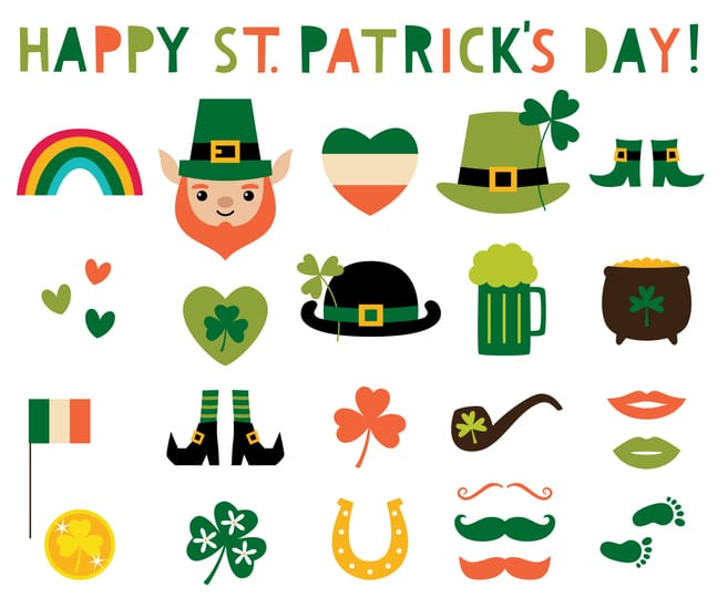 Graphic options for St. Patrick's day ads