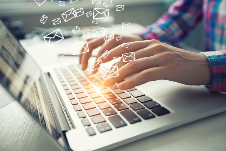 Email alerts keep potential customers informed.