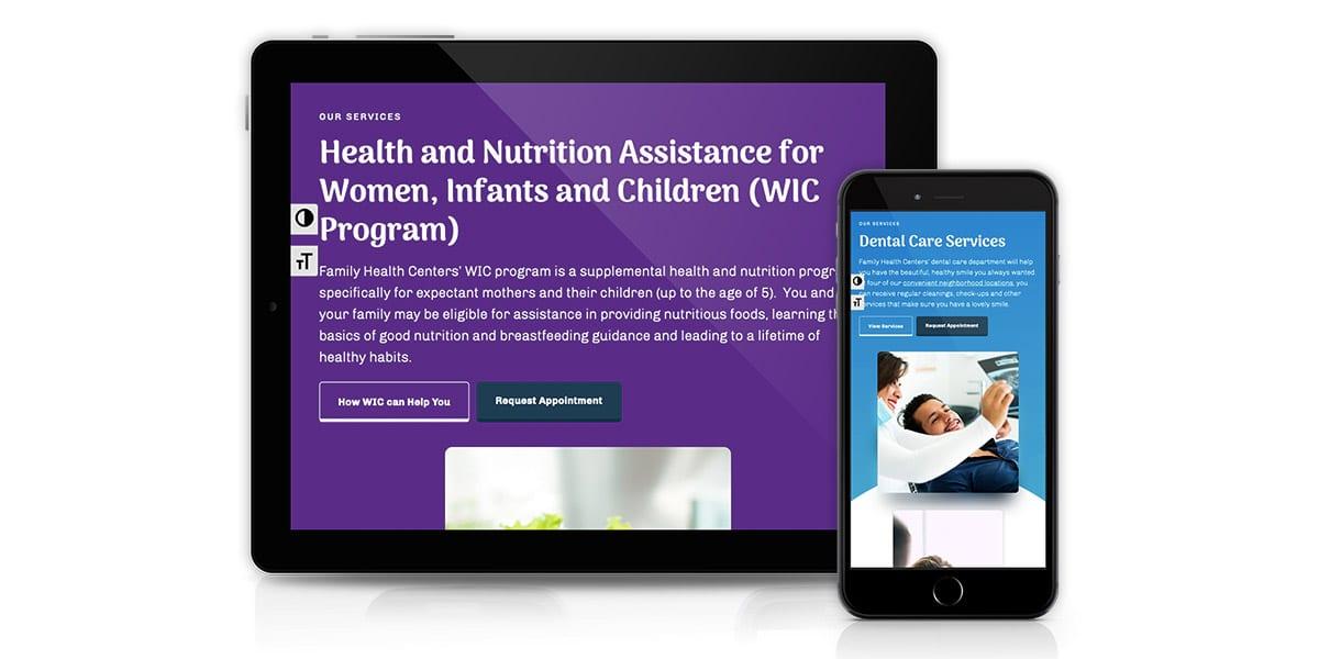 Family Health Centers - Responsive Mockup