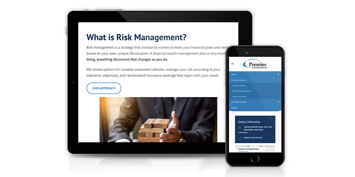 Premier Consulting Partners - Responsive Mockup